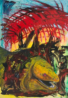 Evolution - Acryl auf Leinwand, 70x100 cm, 2004-2014, M. Huber/S. Ulrich