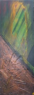 Höhlengleichnis - Acryl auf Leinwand, 30x80 cm, 2011, A. Frosch-Radivo