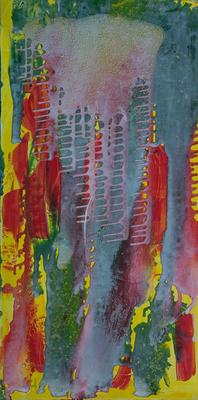ohne Titel - Acryl auf Leinwand,  50x100 cm, 2005, M. Huber