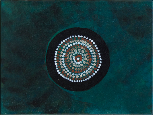 Dots and Circles - Acryl auf Leinwand, 50x40 cm, 2016, A. Bellaire