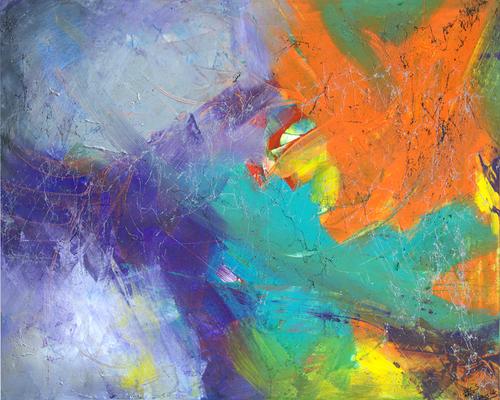 jungle - Acryl auf Leinwand, 100x80 cm, 2015, S. Ulrich & U. Schachner