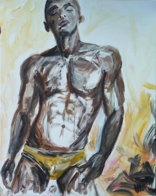 Uomo - Acryl auf Leinwand,  80x100 cm, 2012,  H. Halbritter