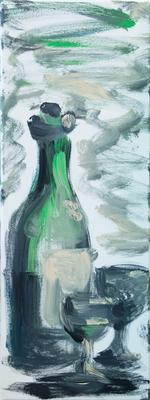 a Glaserl - Acryl auf Leinwand, 30x80 cm, 2013, H. Halbritter