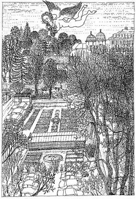 Die kleine Gartenflora - Zeichnung, 20x30 cm, 2012, A. Kästner