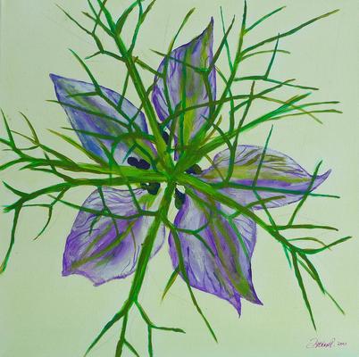 behütet - Acryl auf Leinwand, 50x50 cm, 2010, P. Brodaric