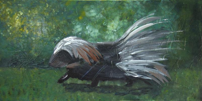 stachelig unterwegs - Acryl auf Leinwand,  100x50 cm, 2015,  A. Bellaire