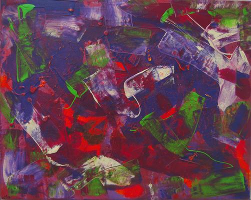 Kunterbunt - Acryl auf Leinwand, 40x50, 2006, M. Weber
