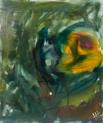 Im Grünen - Acryl auf Platte, 50x60 cm, 2016, H. Halbritter