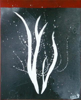 fire of ice - Acryl auf Leinwand, 40x50 cm, 2012, U. Schachner