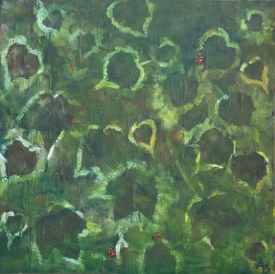 living wall - Acryl auf Leinwand, 80x80cm, 2014, A. Bellaire