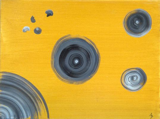 grey spots - Acryl auf Leinwand, 40x30 cm, 2015, A. Bellaire