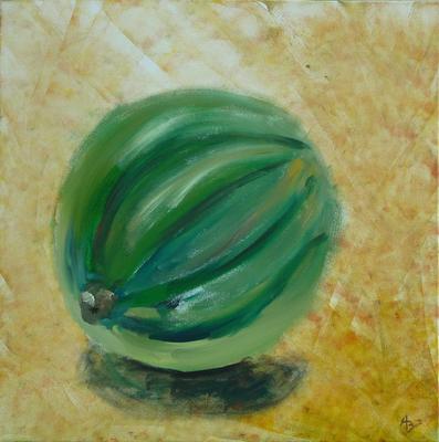 Melone - Acryl auf Leinwand,  60x60 cm, 2010, A. Bellaire