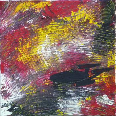 Unendliche Weiten - Acryl auf Leinwand,  50x50 cm, 2012,  U. Schachner
