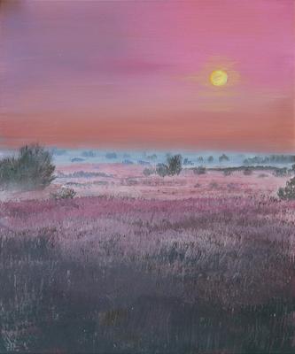 Misty morning - Acryl auf Leinwand, 50x60 cm, 2016, H. Halbritter - VERKAUFT