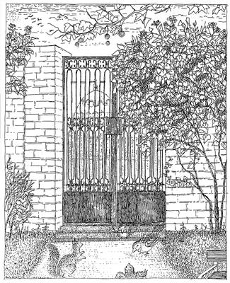 Das Reitertor zum Belvedere - Zeichnung, 20x30 cm, 2012, A. Kästner