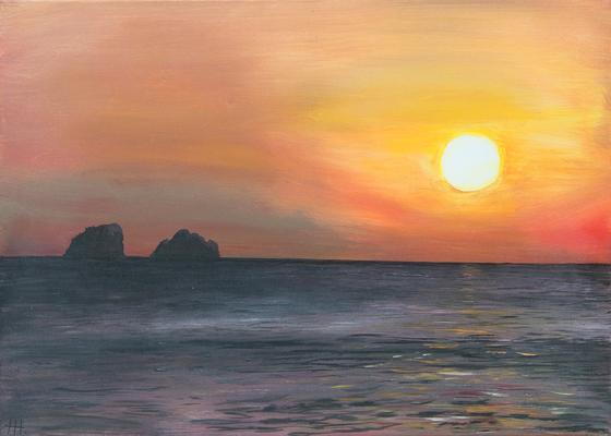 Sunset - Acryl auf Leinwand, 70x50 cm, 2016, H. Halbritter