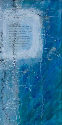 Die Frösche - Acryl auf Leinwand, 40x80 cm, 2016, A. Frosch-Radivo, S. Ulrich