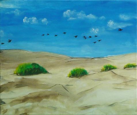 Zugvögel - Acryl auf Leinwand,  60x50 cm, 2013,  S. Ulrich