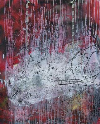 Re-cycle 1 - Acryl auf Platte, Mischtechnik, 96,3x120 cm, 2016, S. Ulrich