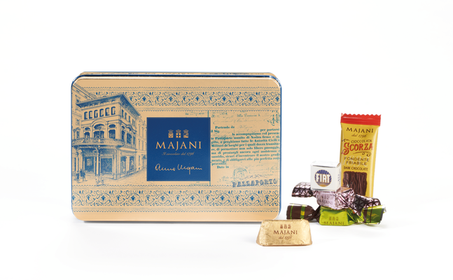 Anna Majani tribute assorted chocolates in metal tin collectable (180g)