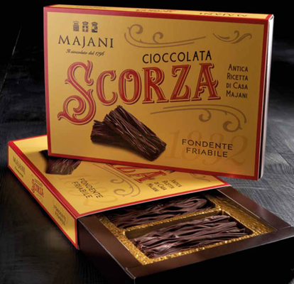 SCORZA FIRST FORM OF SOLID CHOCOLATE IN ITALY (150g)