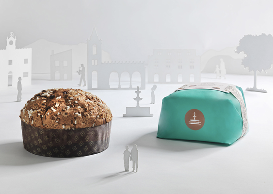 Panettone apricot & chocolate hand wrap (1kg)