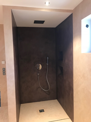 Badezimmer Ohne Fliesen Stucco Decor Kreative Spachteltechnik