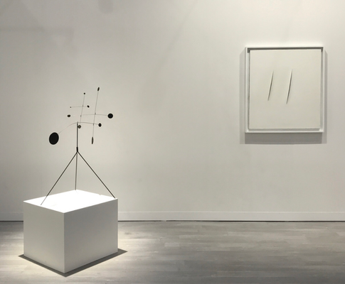 Cardi Gallery booth with Calder and Fontana