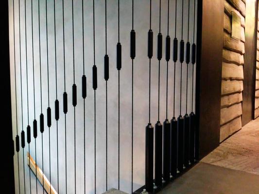Лестница с тросовым ограждением