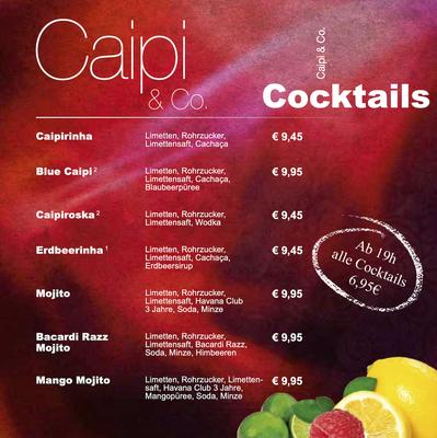 Cocktailkarte