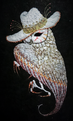 arlecchino  2015 140×100 月明紙、岩絵具、雲母