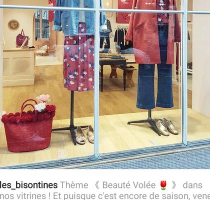 décoration vitrine Des Petits Hauts, Photo publiée par les Bisontines-Besançon