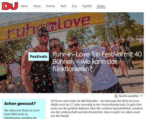 Ruhr in Love Vorschau DJ Mag Germany