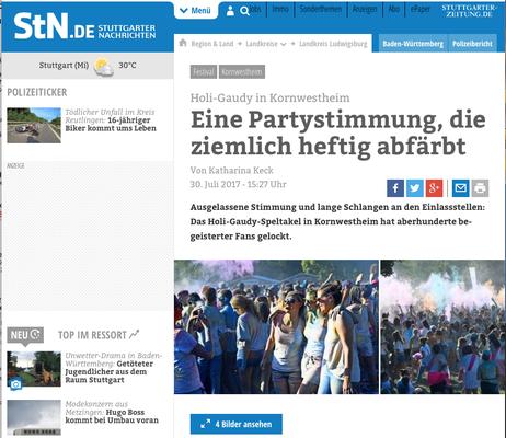 Holi Gaudy / Stuttgarter Nachrichten