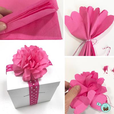 DIY Idee Papierblume aus Servietten selber machen