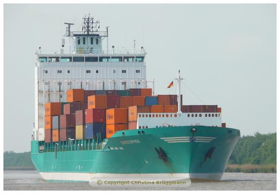 CHRISTOPHER im NOK Richtung Kiel unterwegs 06.06.2015
