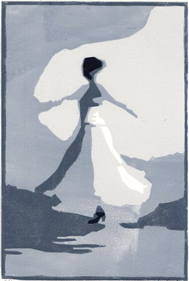 TANZ, Linolschnitt, 20 x 27 cm