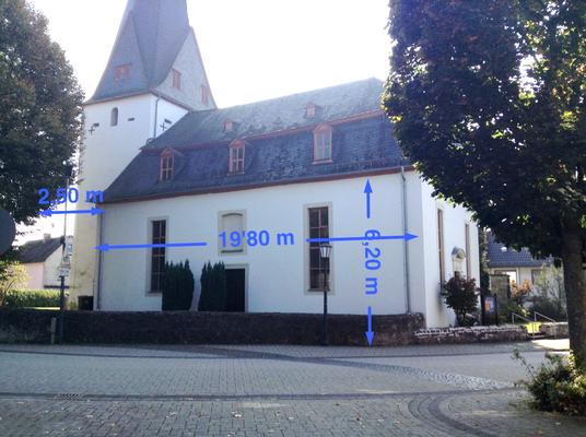 Ev. Kirche Aßlar Werdorf:  -Schwammsanierung / -Sanierung der gesamten tragenden Turm und  Dachstuhlkonstruktion