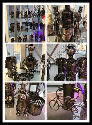 Weinflaschenhalter Metal Figuren