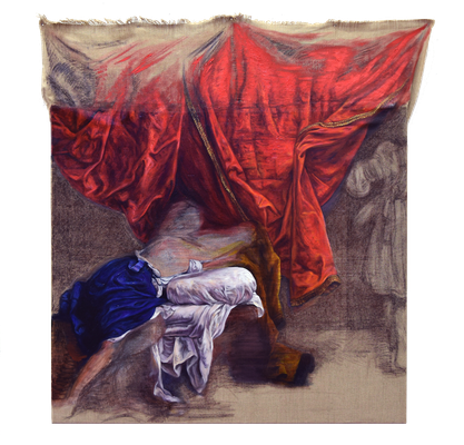Cloth expression-Orazio Gentileschi: Joseph and Potiphars wife [Oil on canvas, 98x94cm, 2017]