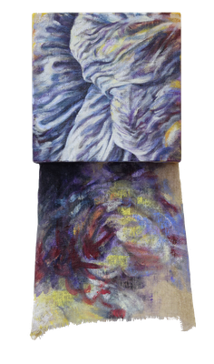 Colours of light and shadow 1/3  [Oil on transparent canvas, 34x18x5cm, 2020]