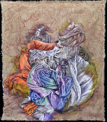 Flow.2 [Oil on canvas, 142x124cm, 2017]