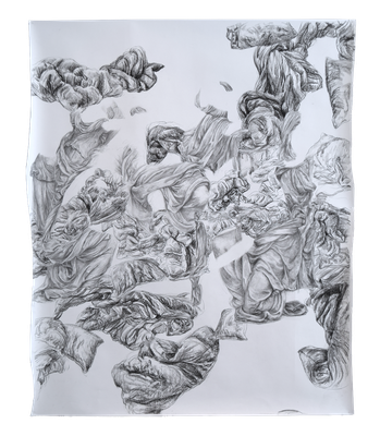 Drawing-Barock 2015.5 [Paper, Pencil, Conte, 135x114cm, 2015]