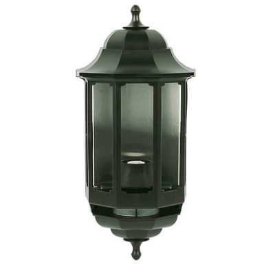 Half Lantern Black with PIR Sensor