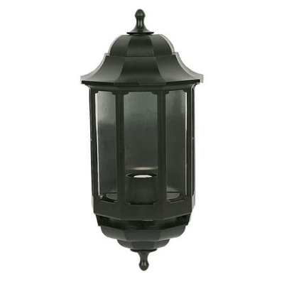 Half Lantern Black with no PIR Sensor