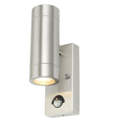 Up Down Light Stainless Steel with PIR