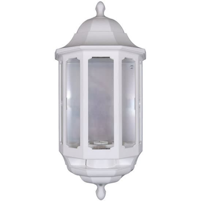 Half Lantern White with PIR Sensor