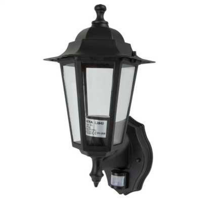 Coach Lantern Black Metal with PIR Sensor