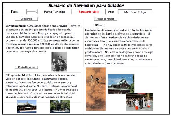 観光地の歴史背景をスペイン語で解説。