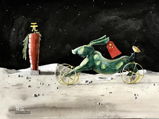 Landung der Raumsonde Chinas auf der Mondrückseite